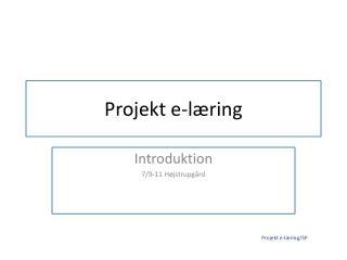 Projekt e-l�ring