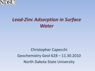 Lead-Zinc Adsorption in Surface Water