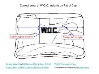 Correct Wear of W.O.C. Insignia on Patrol Cap