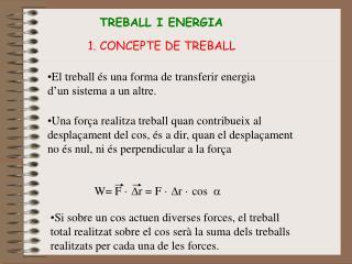 TREBALL I ENERGIA