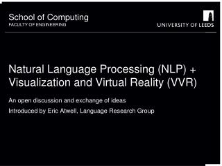 Natural Language Processing (NLP) + Visualization and Virtual Reality (VVR)