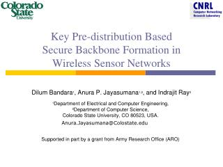 Key Pre-distribution Based  Secure Backbone Formation in  Wireless Sensor Networks