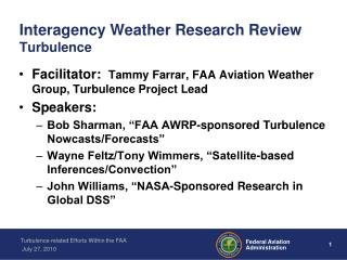 Interagency Weather Research Review Turbulence