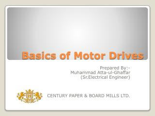 Basics of Motor Drives