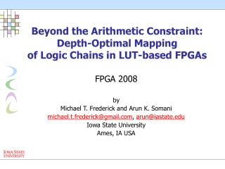 Beyond the Arithmetic Constraint: Depth-Optimal Mapping of Logic Chains in LUT-based FPGAs
