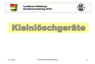 Landkreis Haßberge Kreisfeuerwehrtag 2010