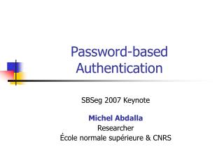 Password-based  Authentication