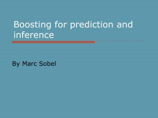 Boosting for prediction and inference