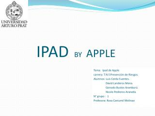 IPAD  BY  APPLE