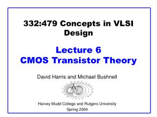 332:479 Concepts in VLSI Design Lecture 6  CMOS Transistor Theory