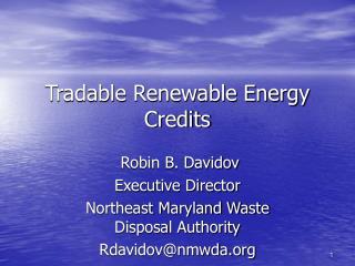 Tradable Renewable Energy Credits