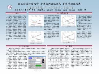 冷媒種類對VRV系統之 影響