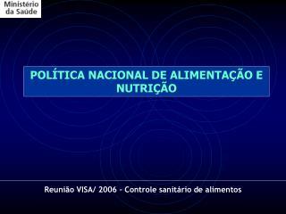 POL TICA NACIONAL DE ALIMENTA  O E NUTRI  O