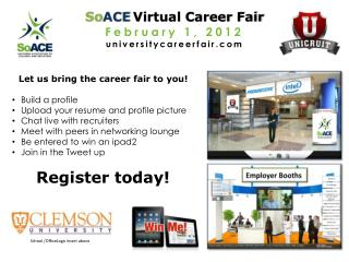 So ACE Virtual Career Fair February 1, 2012 universitycareerfair