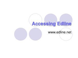 Accessing Edline