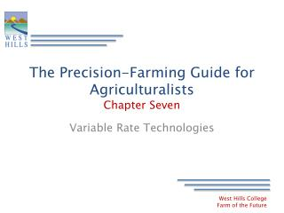 The Precision-Farming Guide for Agriculturalists Chapter Seven