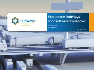 Presentatie HubWays  voor softwareleveranciers