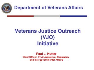Veterans Justice Outreach (VJO) Initiative