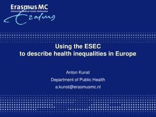Using the ESEC  to describe health inequalities in Europe