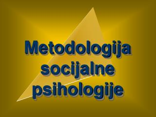 Metodologija socijalne psihologije