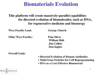 Biomaterials Evolution