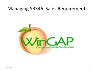Managing SB346  Sales Requirements