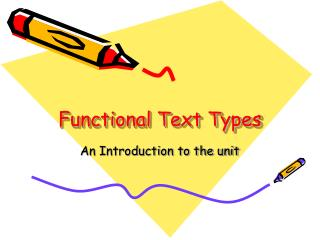 Functional Text Types