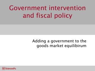 Government intervention and fiscal policy