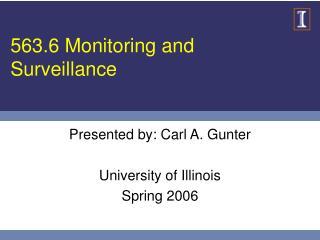 563.6 Monitoring and Surveillance