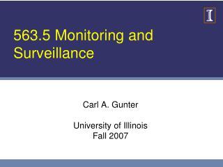 563.5 Monitoring and Surveillance