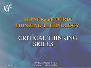 KEPNERandFOURIE THINKING TECHNOLOGY
