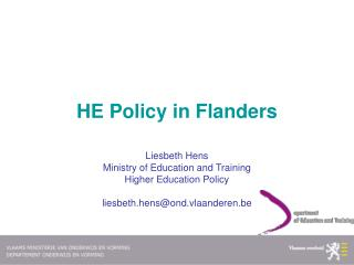 HE Policy in Flanders