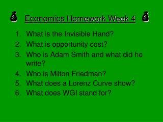 Economics Homework Week 4