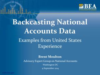 Backcasting National Accounts Data