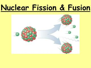 Nuclear Fission  Fusion