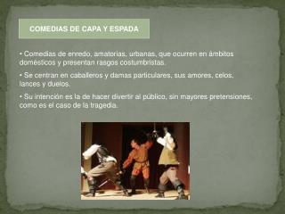 COMEDIAS DE CAPA Y ESPADA