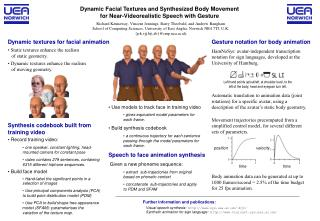 Dynamic Facial Textures and Synthesized Body Movement for Near-Videorealistic Speech with Gesture
