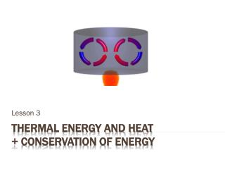 Thermal Energy and Heat + Conservation of Energy