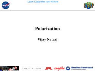 Polarization Vijay Natraj