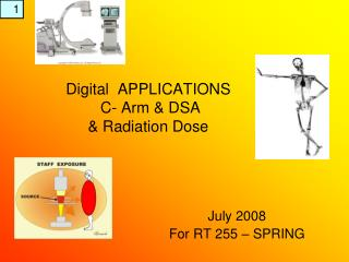 Digital  APPLICATIONS  C- Arm & DSA & Radiation Dose