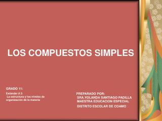 LOS COMPUESTOS SIMPLES