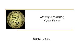 Strategic Planning Open Forum