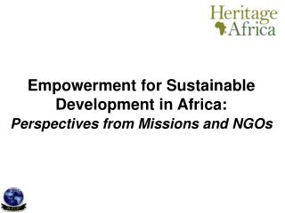 Empowerment for Sustainable Development in Africa: Perspectives from Missions and NGOs