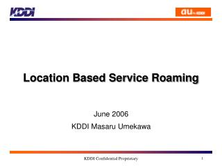 Location Based Service Roaming