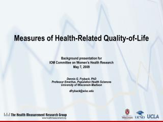 Measures of Health-Related Quality-of-Life
