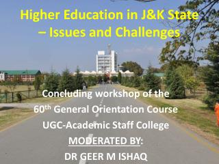 Higher Education in J&K State – Issues and Challenges