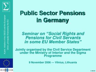 Public Sector Pensions in Germany