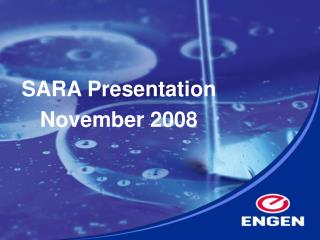 SARA Presentation  November 2008