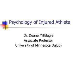 Psychology of Injured Athlete