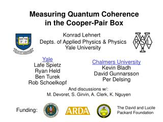 Measuring Quantum Coherence  in the Cooper-Pair Box